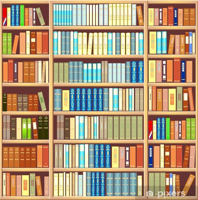 Bookcase full of books Pixerstick Sticker - Library