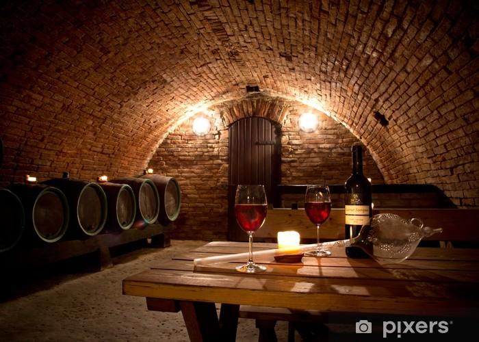 Mural de Parede em Vinil Wine cellar - Temas