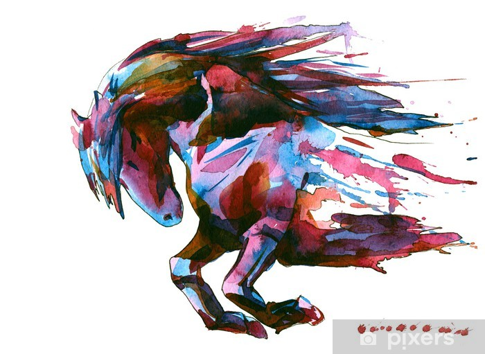 horse Pixerstick Sticker - Wall decals