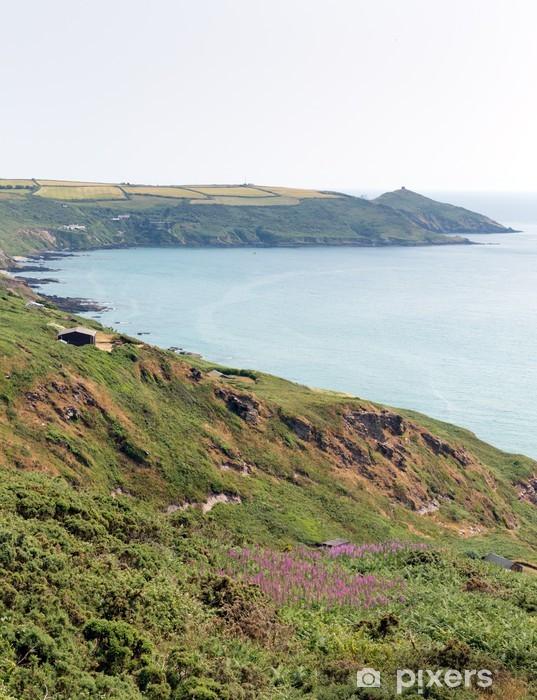 Nálepka Pixerstick Rame Head Whitsand Bay Cornwall pobřeží Anglie UK - Evropa