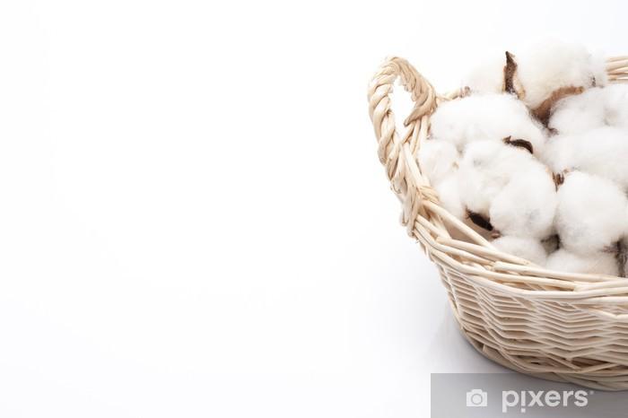 Sticker Pixerstick バ ス ケ ッ ト に 入 っ た 綿 の 実 の ア ッ プ - Plantes