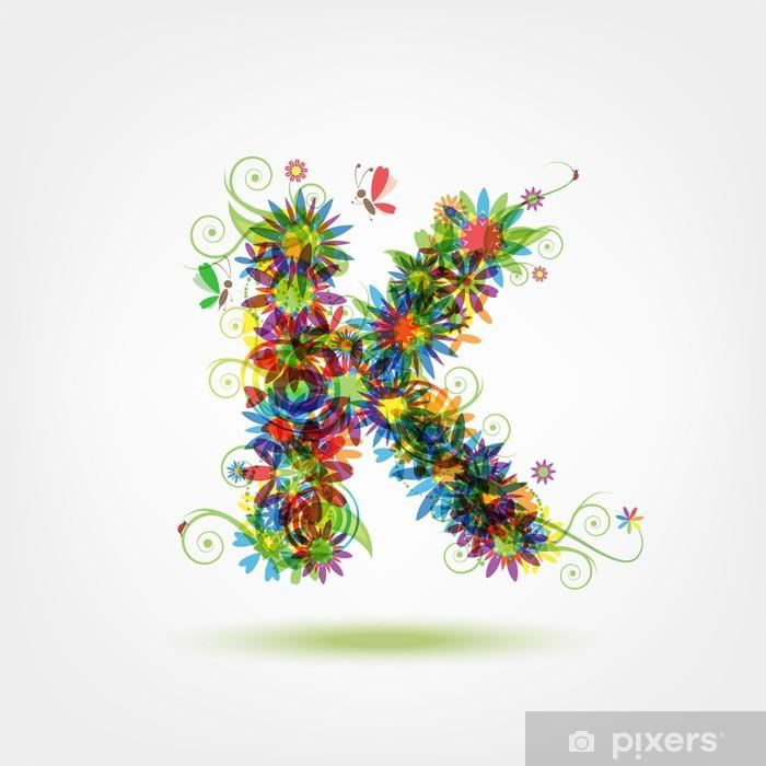 Naklejka Pixerstick Kwiatowy list do projektowania - Pokój