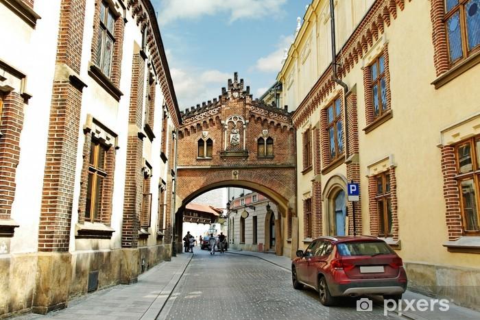 Vinil Duvar Resmi Krakov Merkezi. - Avrupa