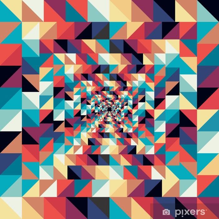 Naklejka Pixerstick Kolorowe retro abstrakcyjne efekt wizualny szwu. - Sztuka i twórczość
