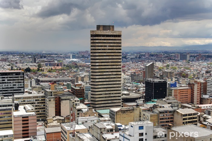 Vinilo Pixerstick Bogota Centro horizonte mirando al oeste - Finanzas