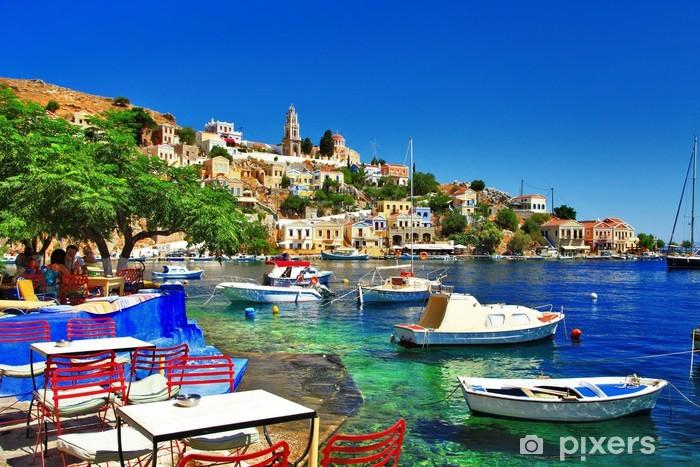 Vinil Duvar Resmi Yunan tatil. Symi adası -