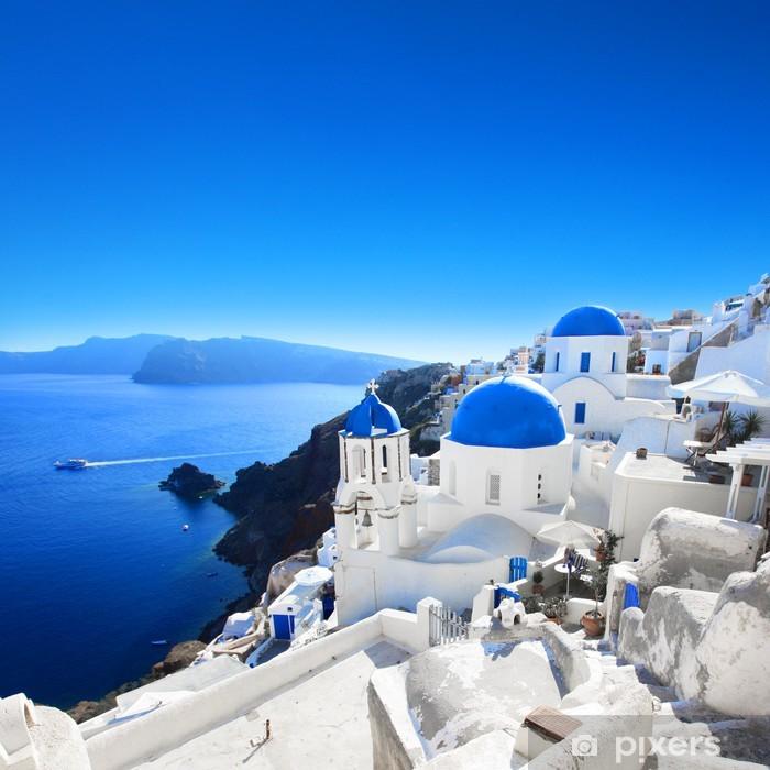 Grèce - Santorin (Oia village) Poster - Themes