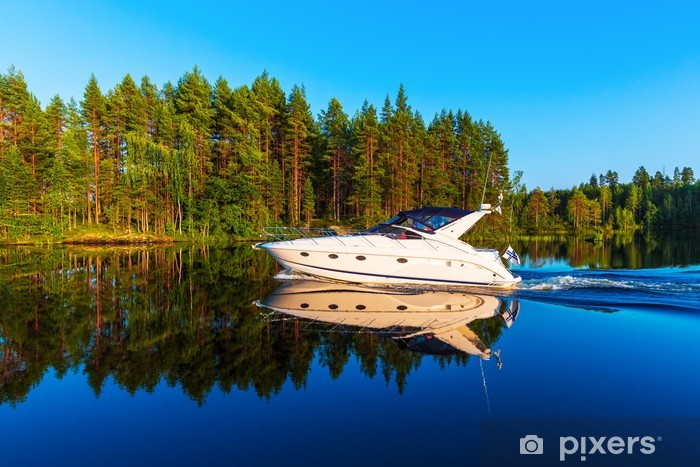Vinyl-Fototapete Sommer in Finnland - Wassersport