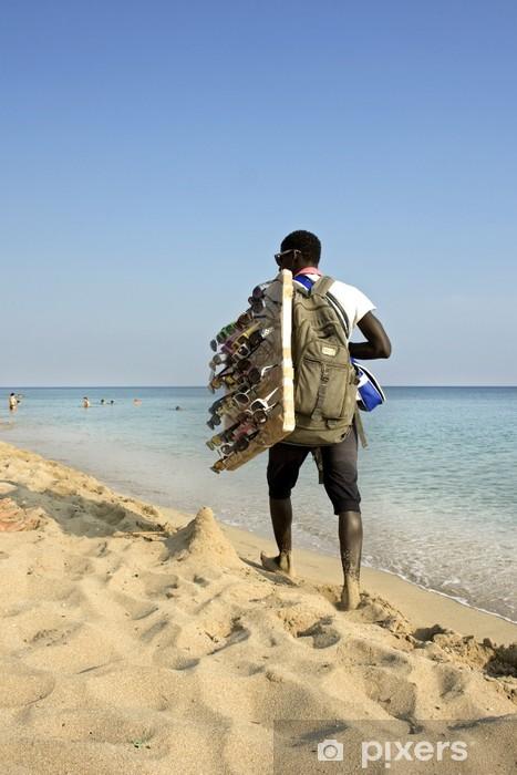 Nálepka Pixerstick Venditore Ambulante v spiaggia - Ilegální imigrace