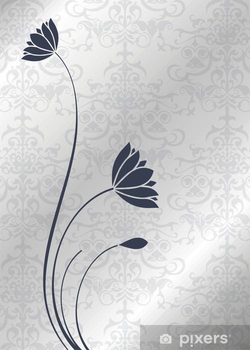 Papier peint vinyle Nénuphars, conception de cartes de mariage, Inde - Célébrations