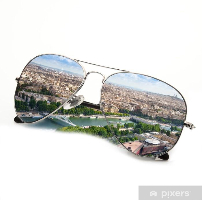 Naklejka Pixerstick Okulary w Paryżu wakacje - Miasta europejskie