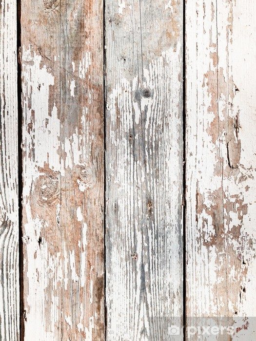 old shabby wooden planks Vinyl Wall Mural - iStaging