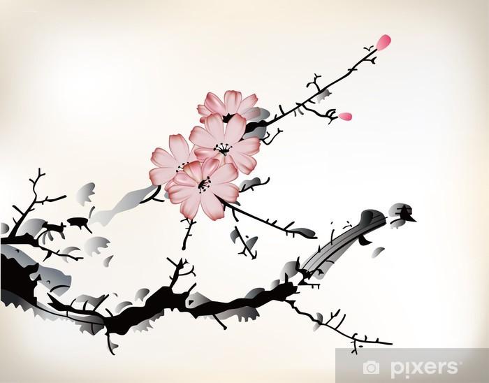 Fototapeta winylowa Kwiat malowanie - iStaging 2