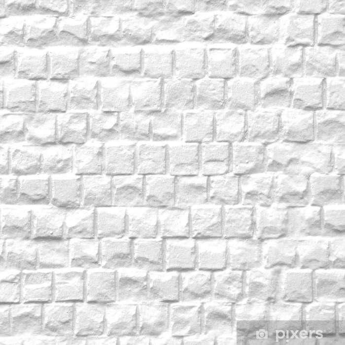 Carta da parati lavabile muro di pietra bianca texture di for Carta parati bianca