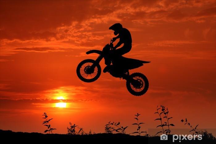 Vinil Duvar Resmi Motocross im Sonnenuntergang - Ekstrem sporlar