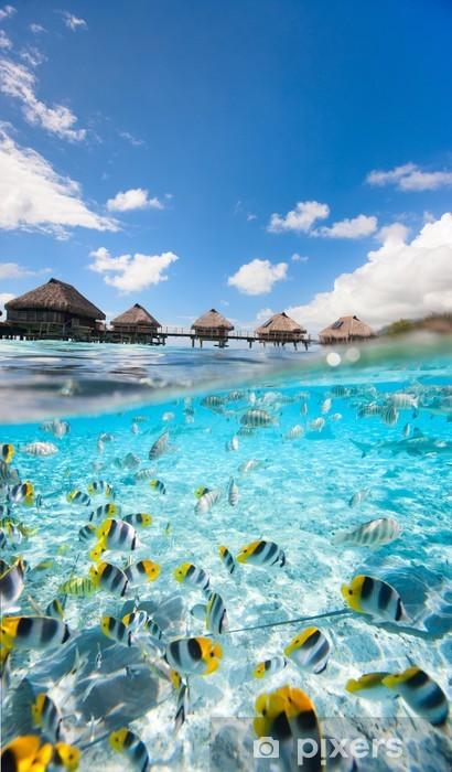 Sticker Pixerstick Paradis tropical - Vacances