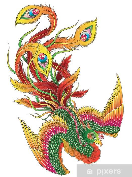 Papier peint vinyle Japanese Style Phoenix - Religion