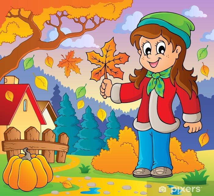 Plakát Podzimní tématický obrázek 8 - Roční období