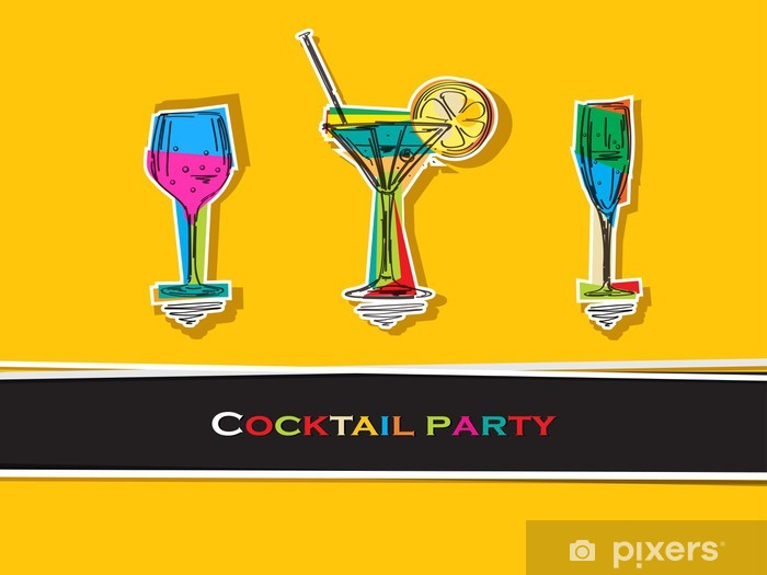 Cocktail party card Vinyl Wall Mural - Accessories