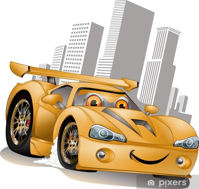 Plakat Zakupy Żółty płata - Transport drogowy