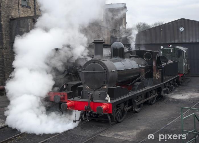 Papier peint vinyle Locomotives à vapeur restaurés - Thèmes
