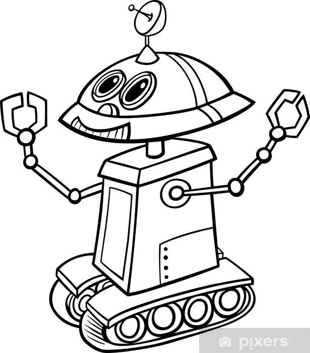 Boyama Robot Karikatur Illustrasyon Cikartmasi Pixerstick Pixers
