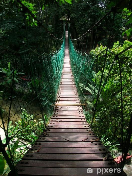 Fototapeta winylowa Wiszący most w tropikalnej dżungli - Tematy