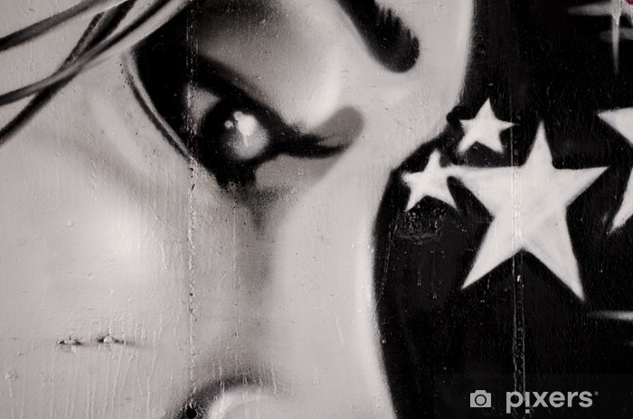 Naklejka Pixerstick Ściany graffiti urban street art painting - Tematy