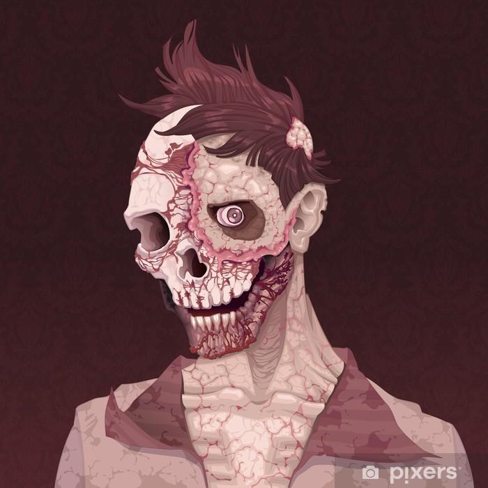 Vinyl Fotobehang Zombie portret. - Thema's