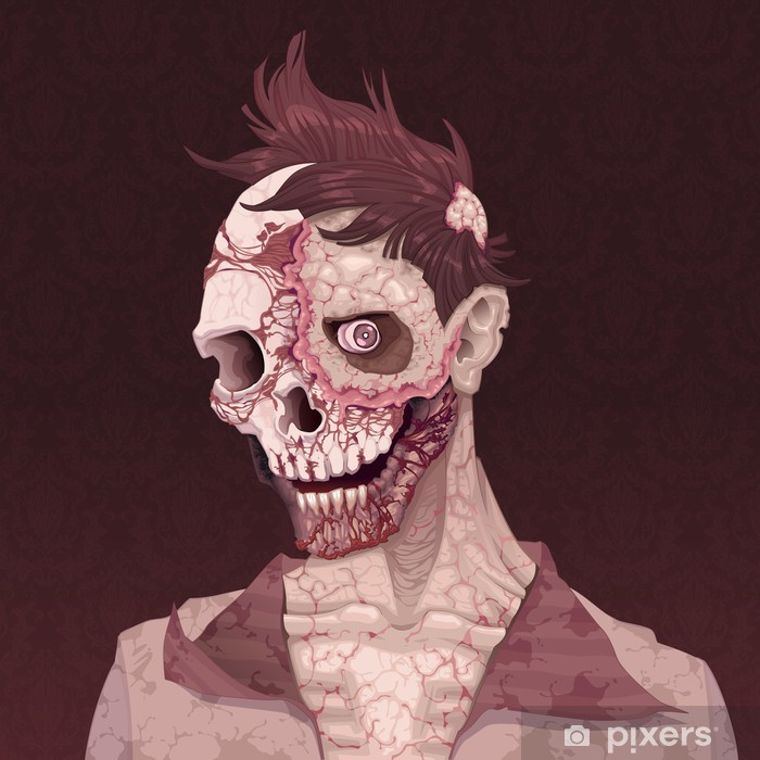 Zombie portrait. Self-Adhesive Wall Mural - Themes