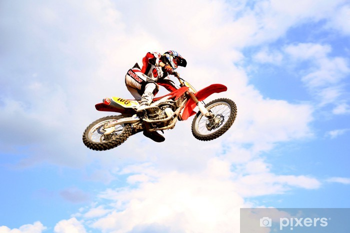 motocross in the sky Vinyl Wall Mural - Extreme Sports