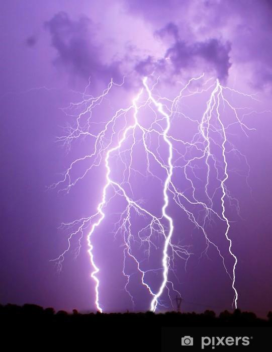 Fototapeta winylowa Burza z piorunami - Klęski żywiołowe