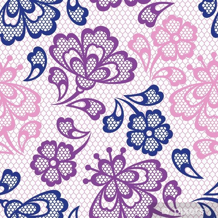 Plakat Old lace szwu, kwiatów ozdobnych. Tekstury Vector. - Sklepy