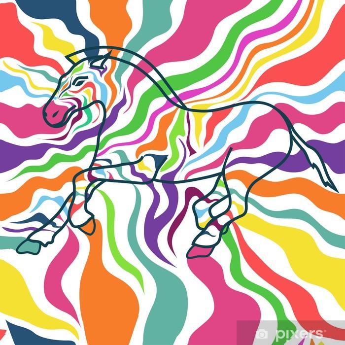 Plakat Jednolite wzór zebry - Tła