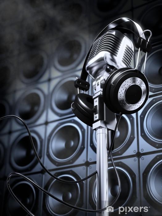 Pixerstick Dekor Mikrofon och hörlurar - Hio hop