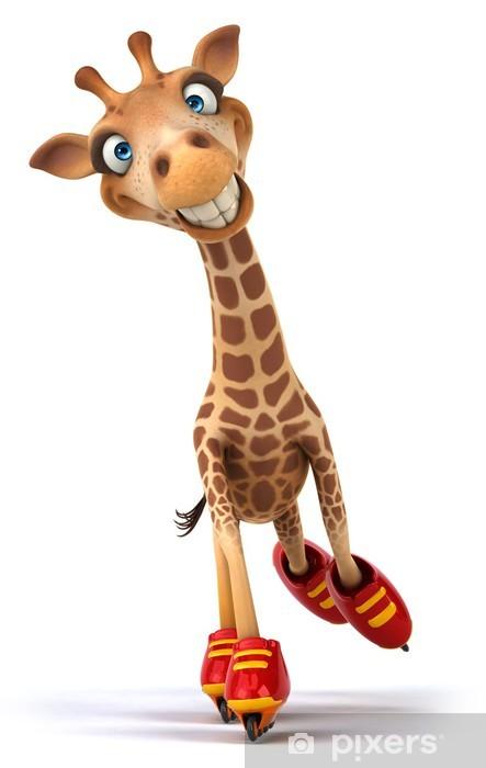 Naklejka Pixerstick Zabawa żyrafa - Znaki i symbole