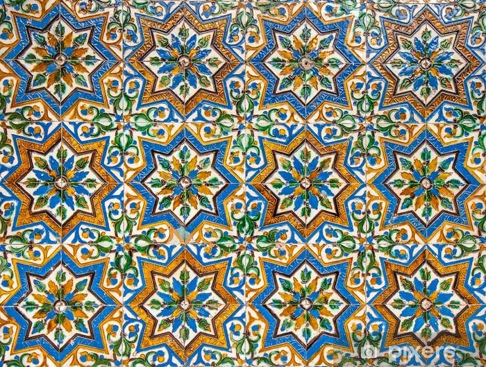 Vinilo para Nevera Marroquí de fondo de azulejos de época - Estilos