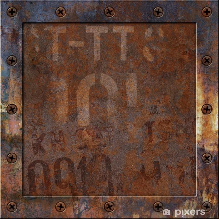 Rusty Metal Background Vinyl Wall Mural - Styles
