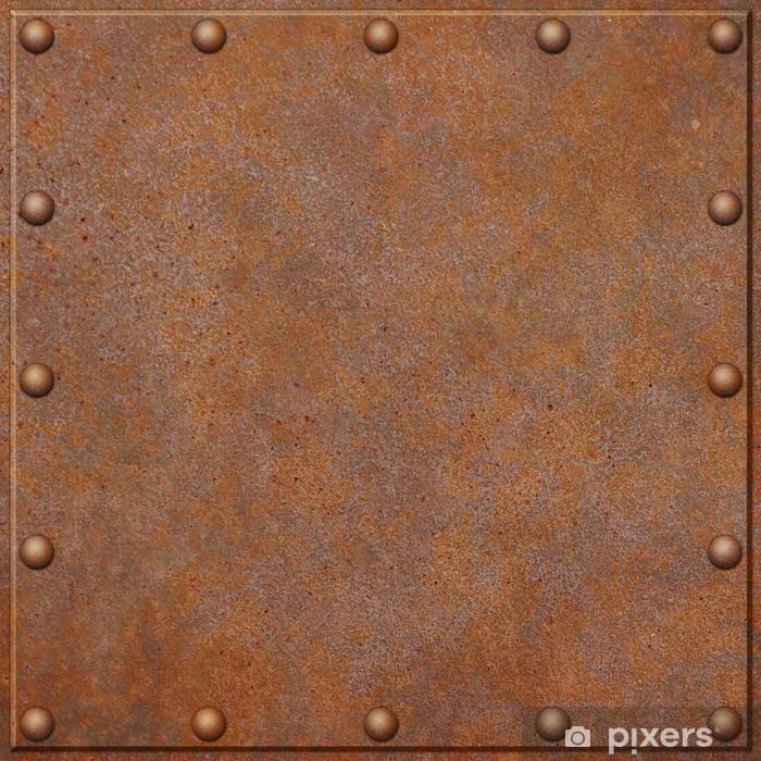 Pixerstick Sticker Roestige metalen achtergrond - Stijlen