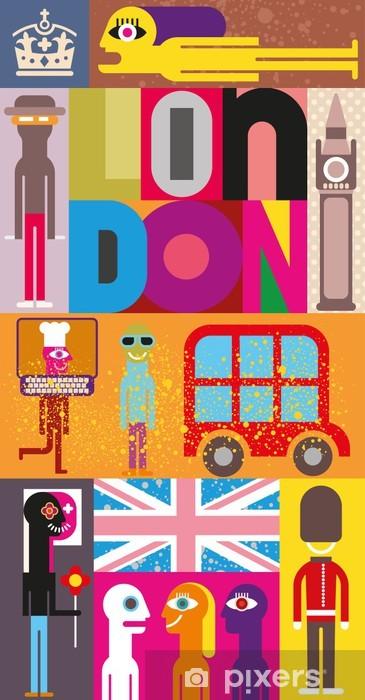 Sticker Pixerstick Londonien - Europe