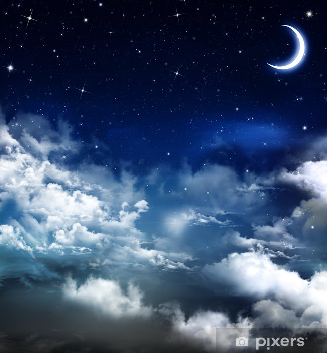 beautiful background, nightly sky Pixerstick Sticker - Themes