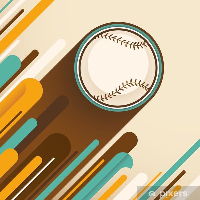 Plakat Modern_baseball_illustration. - Artykuły sportowe