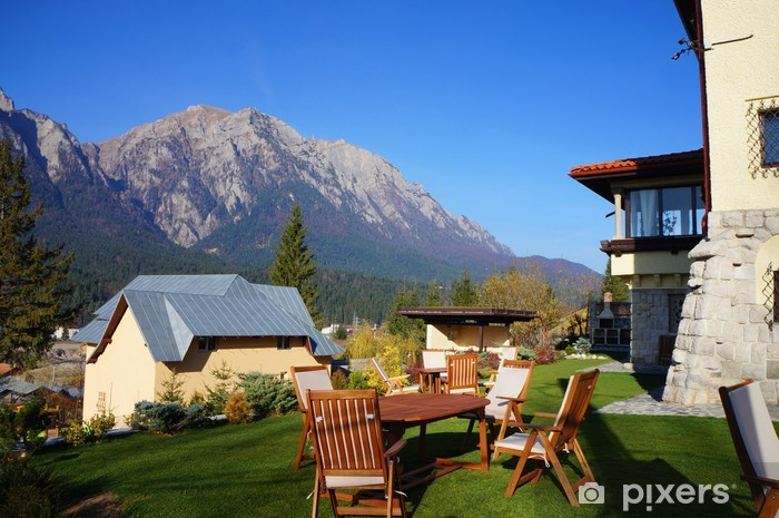 Papier Peint Autocollant Chalet de montagne avec une vue panoramique - Propriétés privées