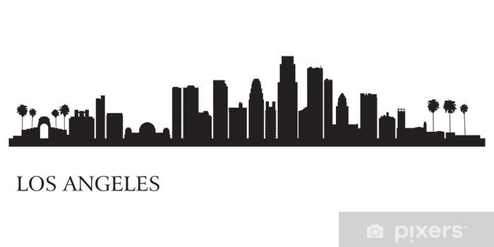 fototapete los angeles skyline silhouette hintergrund • pixers® - wir  leben, um zu verändern  pixers