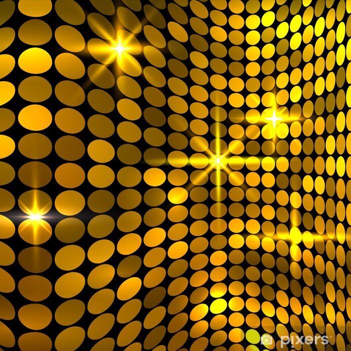 Naklejka Pixerstick Faliste tle złotej mozaiki - Tła