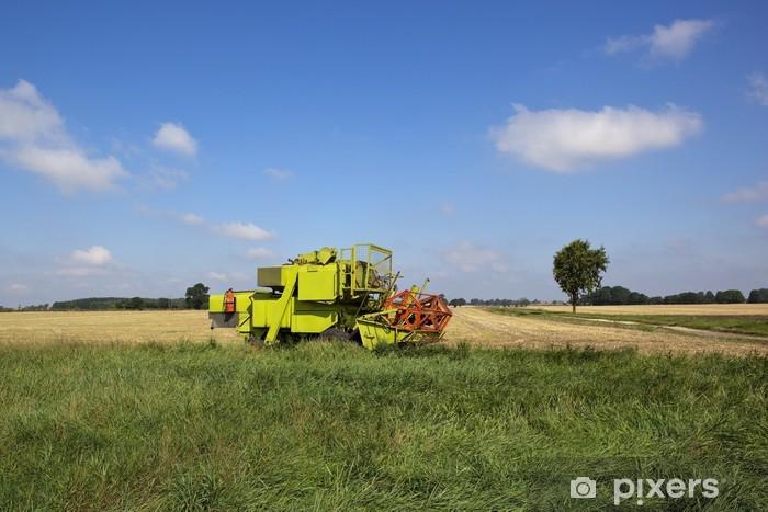 small harvester Pixerstick Sticker - Countryside