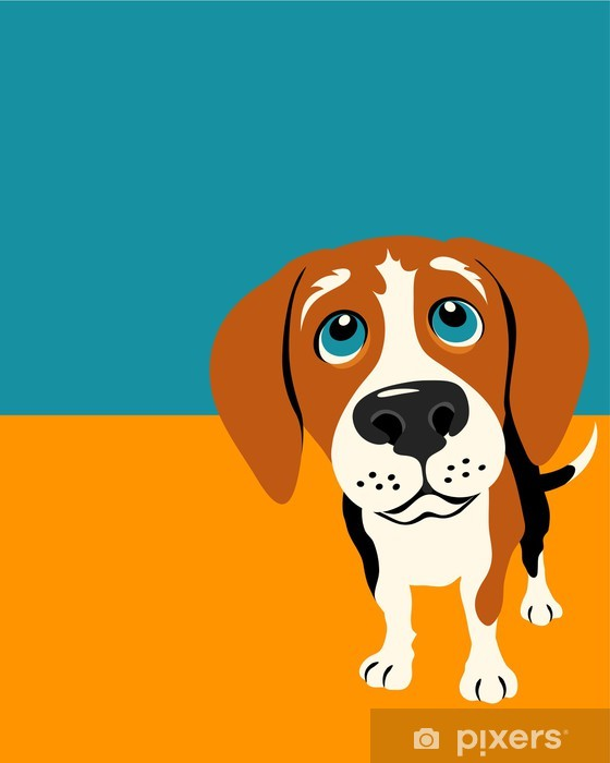 Illustration of a funny beagle Vinyl Wall Mural - Mammals