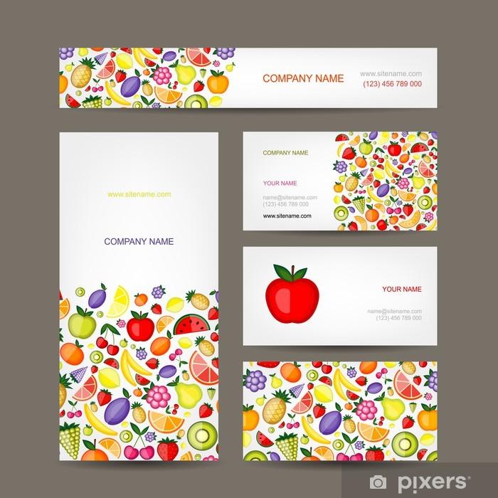 Fototapete Visitenkarten Design Obst Hintergrund