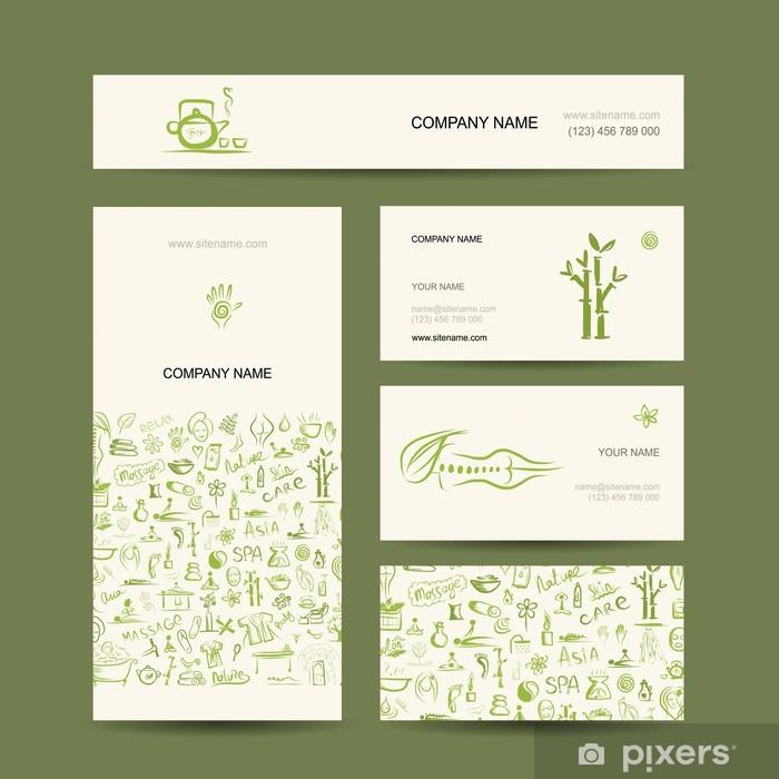 Naklejka Pixerstick Projekt wizytówki, masaże i spa concept - Części ciała