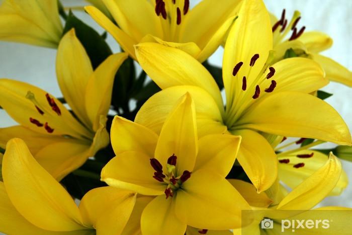 Naklejka Pixerstick Żółte lilie dni - Kwiaty